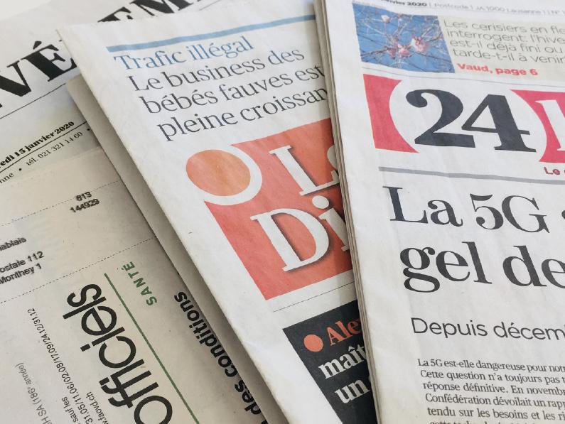 5 ANS ET 6,2 MILLIONS POUR SAUVER LA PRESSE VAUDOISE