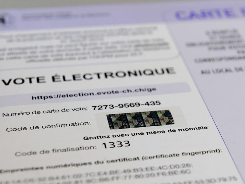 Le vote électronique à nouveau sur les rails