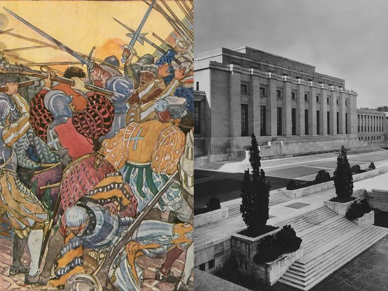 D'un passé guerrier au Palais des Nations