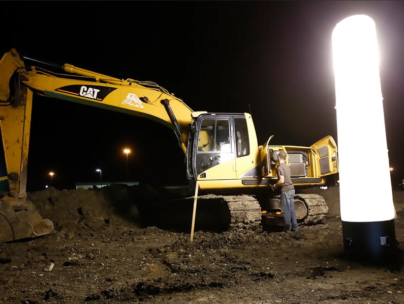 Eclairage de chantier
