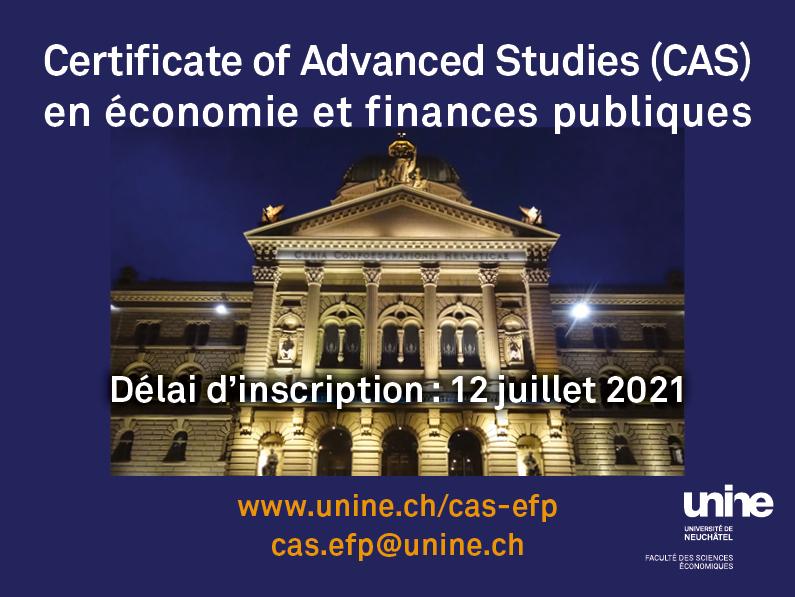 CAS en économie et finances publiques – UNINE