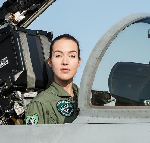 Fanny Chollet première femme pilote de chasse suisse